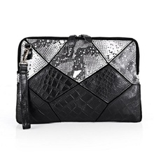 STYLISH!Snake grain vogue evening party bag fillers, shoe and bag set women for party