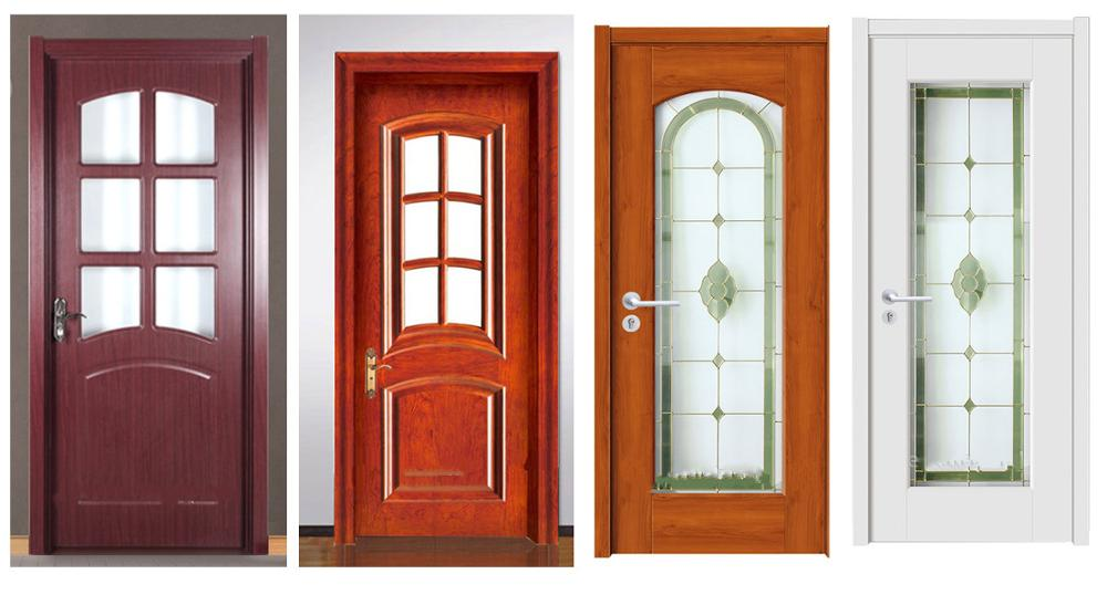Exterior sound proof tempered glass solid wood glass door