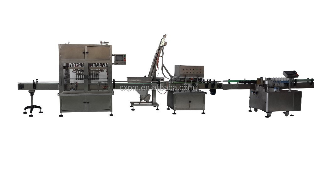 Automatic linear canned tomato sauce filling sealing labeling production line