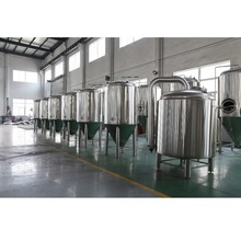 SS304/316 sanitary craft beer fermentation tank, continuous stirred tank reactor, beer brewing equipment