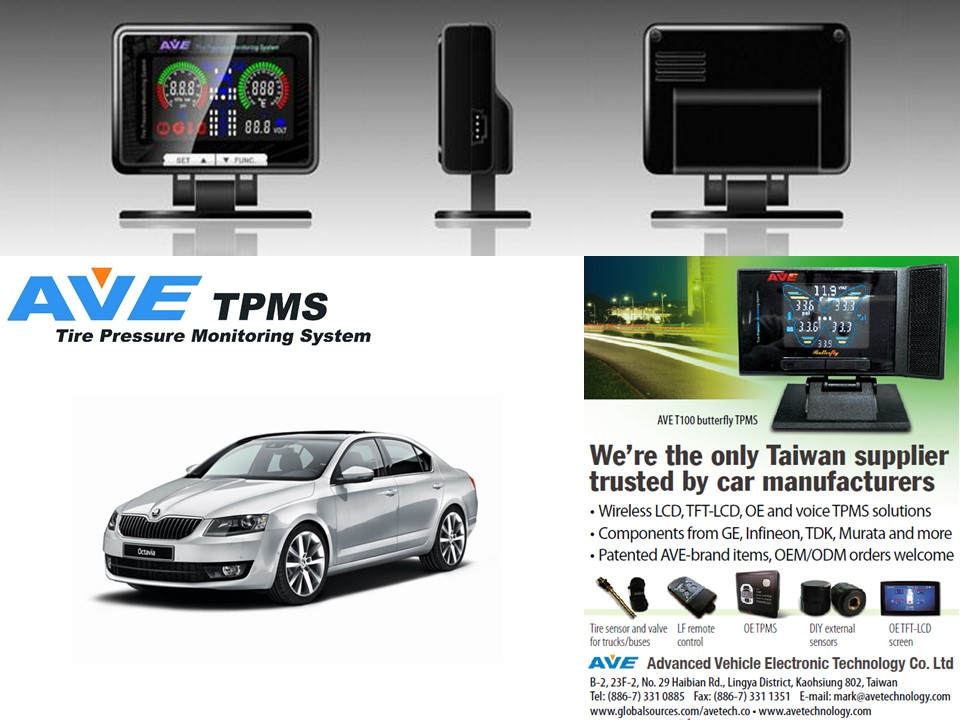 Taiwan TPMS Tire pressure monitoring System for Skoda Octavia