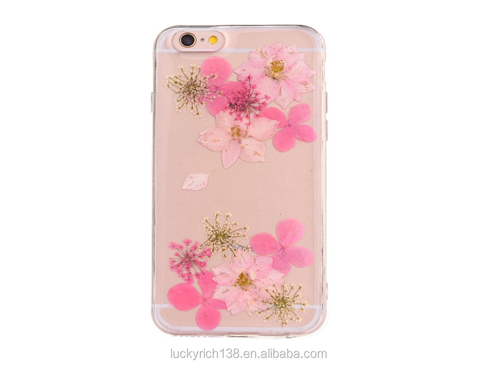 Colorful true flowers TPU phone case for iPhone 6G/7G