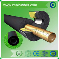 Closed cell rubber foam insulation black tube for air conditioning
