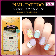 Joyme new top product colorful water transfer nail art sticker for girl koreans nail sticker wholease