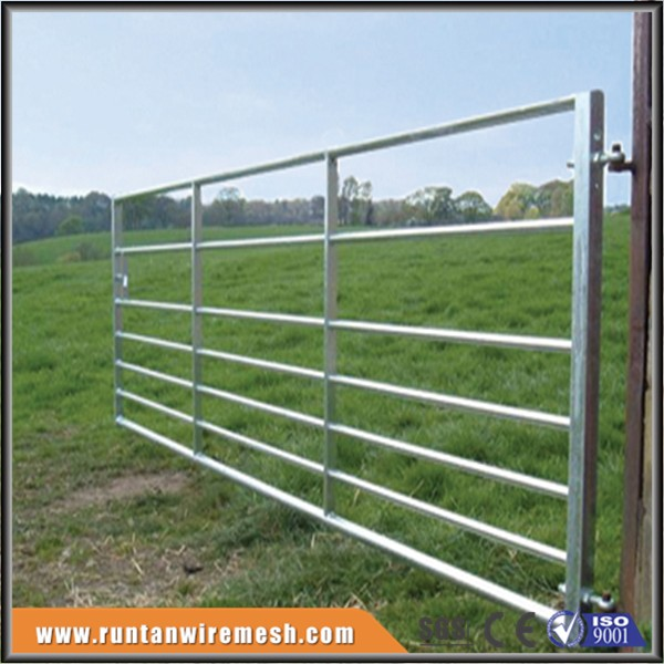 High quality hot dip galvanized steel pipe farm gates