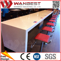 Fast Food Chain Furniture Dining Table Chairs Sets