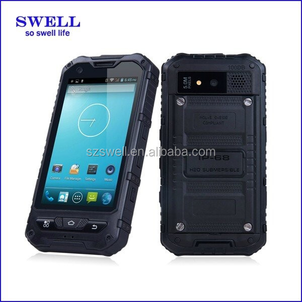 2016 newest android cell dual chip mobile phone with waterproof dustproof shockproof function