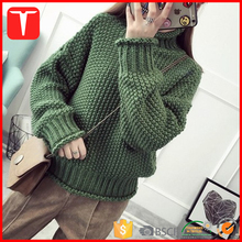 Women heavy chunky designs winter hand knitted sweater