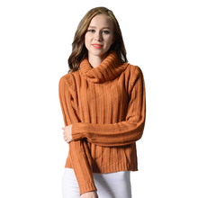 Z91458A 2016 womens fashion Sweater Cable Knitted Merino Wool Cashmere Sweater