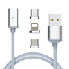 3 in 1 Magnetic Cable for iPhone 7 8 X 6S Plus for Xiaomi for Samsung Micro USB Type C Data Cable