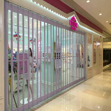 new design durable crystal plastic transparent roll up door slat