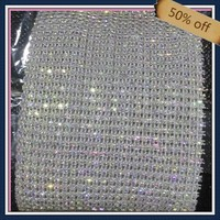 ss6 2mm plastic transparent cup chain crystal ab rhinestones for dresses design 10 yards each roll