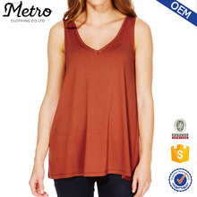Wholesale Newest 95% cotton 5% spandex tank top wholesale plain orange tank top