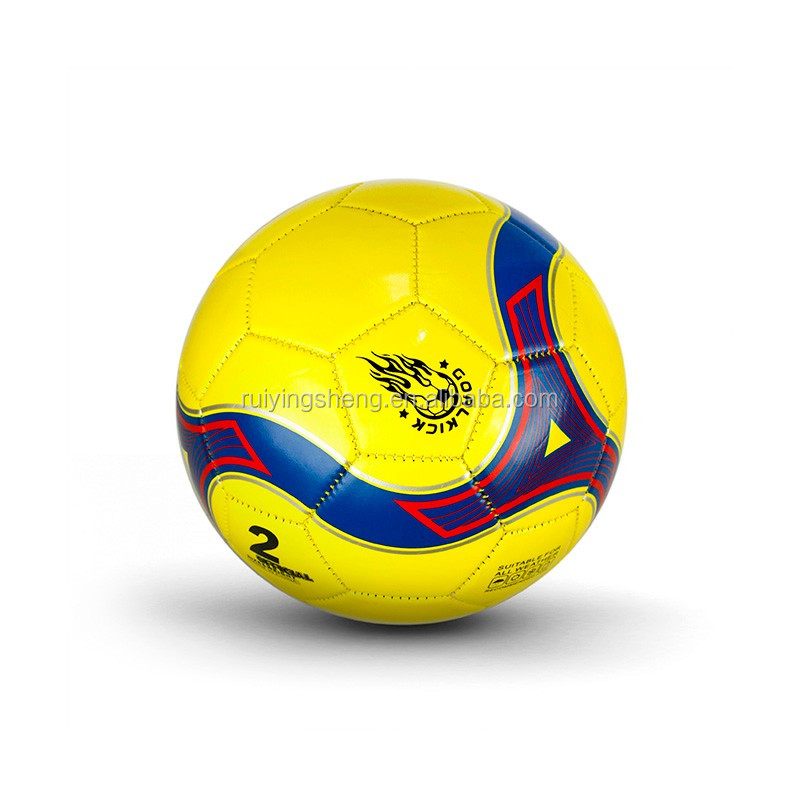 Hot sell kids size No 2 pvc soccer ball