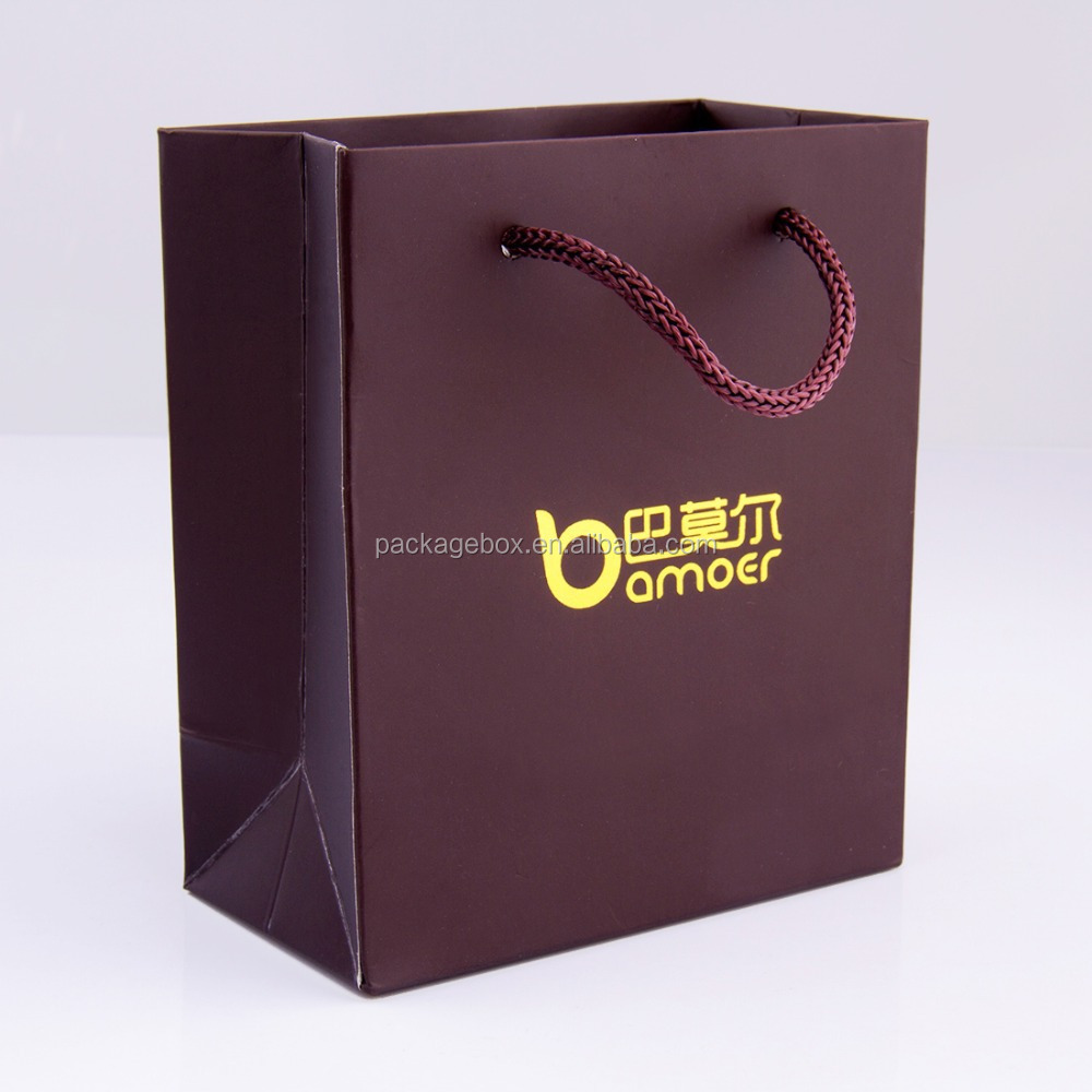 Full color custom made punching bags / offset printed custom made shopping bag for Luxury Paper Shopping Bag