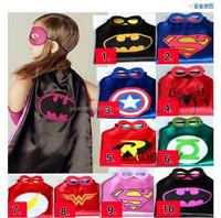 (Factory) Superhero cape mask Super hero costumes for kid