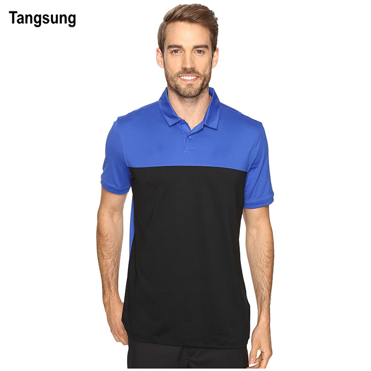 Leisure wear man sport contrast polyester polo golf shirt