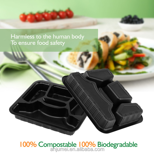 basic nature PLA 100% compostable small clear plastic hinged food container