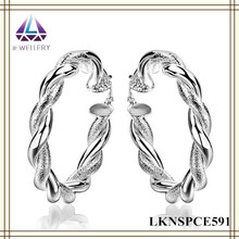 Fashion High Quality large Hoop Necklace And Tragus Earring For Girls