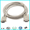 Factory supply custom 180cm beige vga cable with ferrite