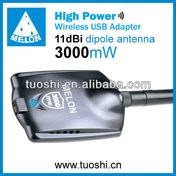 High Power 3000mw;Ralink 3070;802.11g/b/n wireless usb adpater