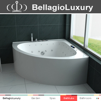 Corner air jet bathtub, acrylic transparent bathtub, cheap massage bathtub