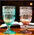 2017 high quality transparent colored champagne glass cup /red wine glass cup