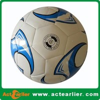 pvc leather machine sewn size 5 promotional ball football s