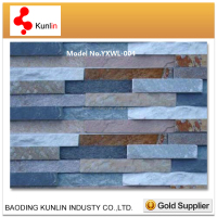 Natural Stacked Slate wall cladding brick stone