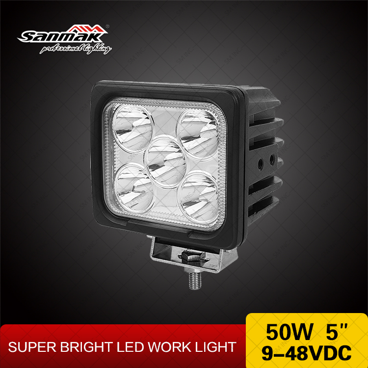 50 watt Double mounting bracket high power 4200 lumen 5 leds CREE 10w outdoor led work light