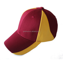 plain color bank cotton 100 6 panels adjustable cap hat factory in China