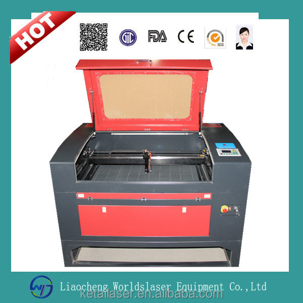 Worldslaser 6090 laser engraver machine for advertisement for engraving and cutting nonmetal material with CE