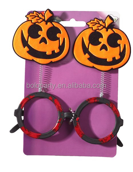 2018 Halloween Party High Quality Funny Pumpkin Round Glasses
