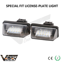 original auto light easy install 12V HQ led license plate lamp/bulb for C3 / C3 II /206 (T1) / 206+ (T3E) / 207 (A7) / 407 / 406