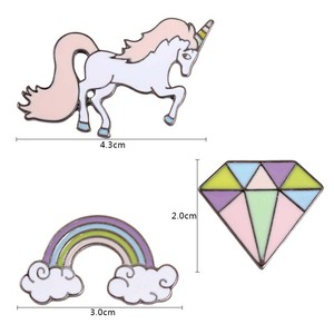 Cute Enamel Pins And Brooches Rainbow Diamond Horse Brooches For Women Lapel Badge Brooch Pin Jewelry
