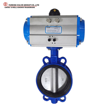 pneumatic actuators soft seal epdm/ptfe lined wafer type butterfly valve