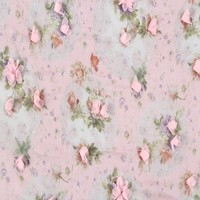 China product wholesale textile 3D flower embroidered printed chiffon fabric material for making dresses