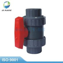 PVC TWO PIECES BALL VALVE with ABS HANDLE