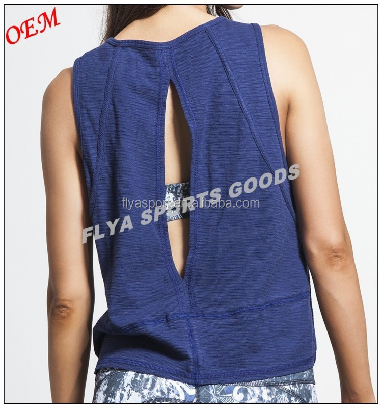 High Quality Cotton Loose Sleeveless Yoga Tank Tops T-shirt