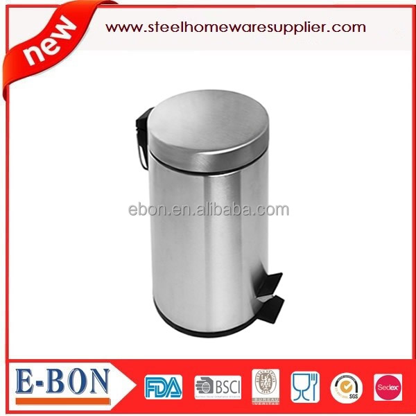 Accept reservation item kitchen essential satin finishing stainless steel pedal trash can/waste bin