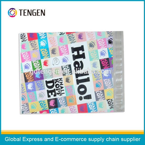 F068 double self-adhesive printed poly bags for mailing&packing