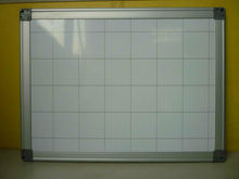 white board with grid lines