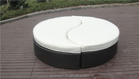 Outdoor Round Ying Yang Sectional Rattan Daybed