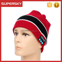 C1203-3 compatible with iphone android cell phone winter hat with bluetooth headphone