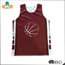Customize quick-dry gym muscle vest sleeveless Double Face Sublimation Printing Basketball sports vest for men