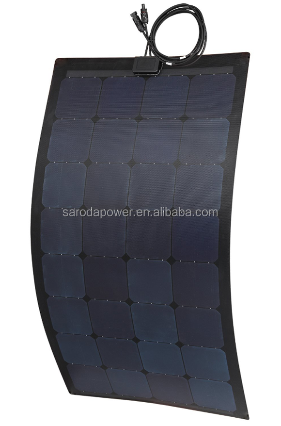 4x8 best monocrystalline solar cell price for 100W semi flexible solar panel/photovoltaic solar cells for sale