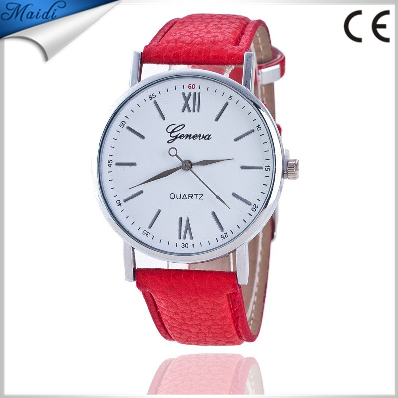 Fashion Geneva Men Wristwatch Leather Casual Watch Analog Quartz Watch luxury Women Dress Watch ladies Relojes Clock GW096
