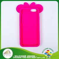 Durable pleasant logo silicone mobile phone case