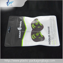 heat seal aluminum foil material food grade plastic packaging vaccum bags with tear notch wholesale