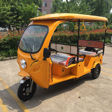 passenger use three wheel 1000W electric auto rickshaw with roof
